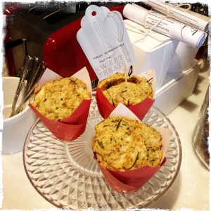 Homemade zucchini muffins. I'm sold on the packaging alone.