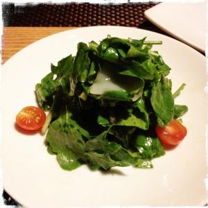 The rocket + cuttlefish salad.