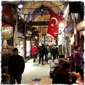 Faffing about in the Grand Bazaar.