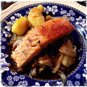 Salmon and endive, so stupidly good.