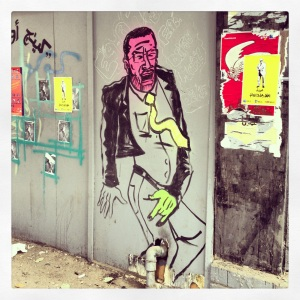 The graffiti and street art scene.