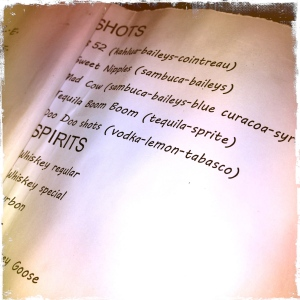 Some of the drink names... *shakes head*