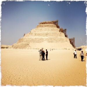 At Saqqara; renovations in progress (hence the scaffolding).