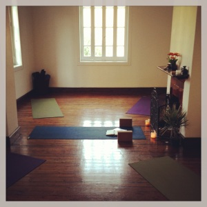 Getting ready to yoga it up at Nun. Not a bad space to get centered and focus on your practice, no?