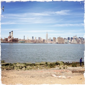 Standing on Brooklyn shores looking at Manhattan.